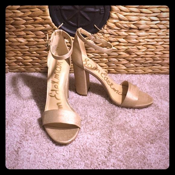 7d924ed2385 Sam Edelman Yaro Ankle Strap - nude silk
